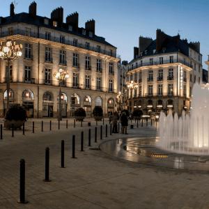 maitrise d'oeuvre éclairage Place Graslin à Nantes